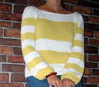 Yellowwhitesweater